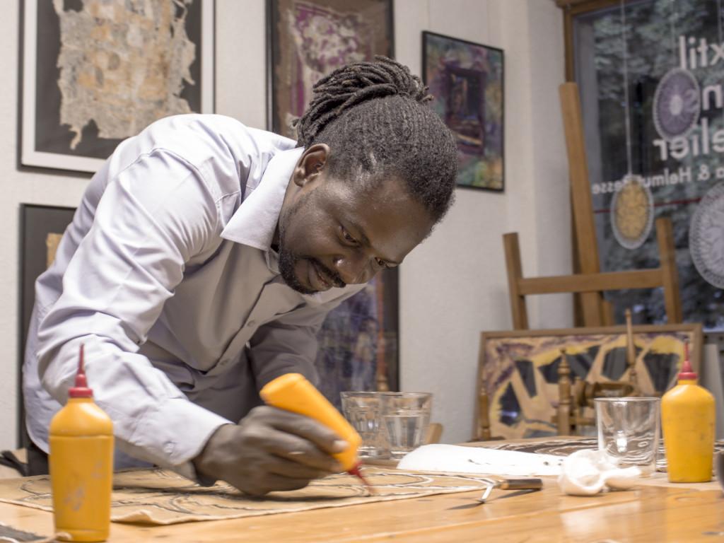 Souleymane bei Bogoaln-Workshop 2015