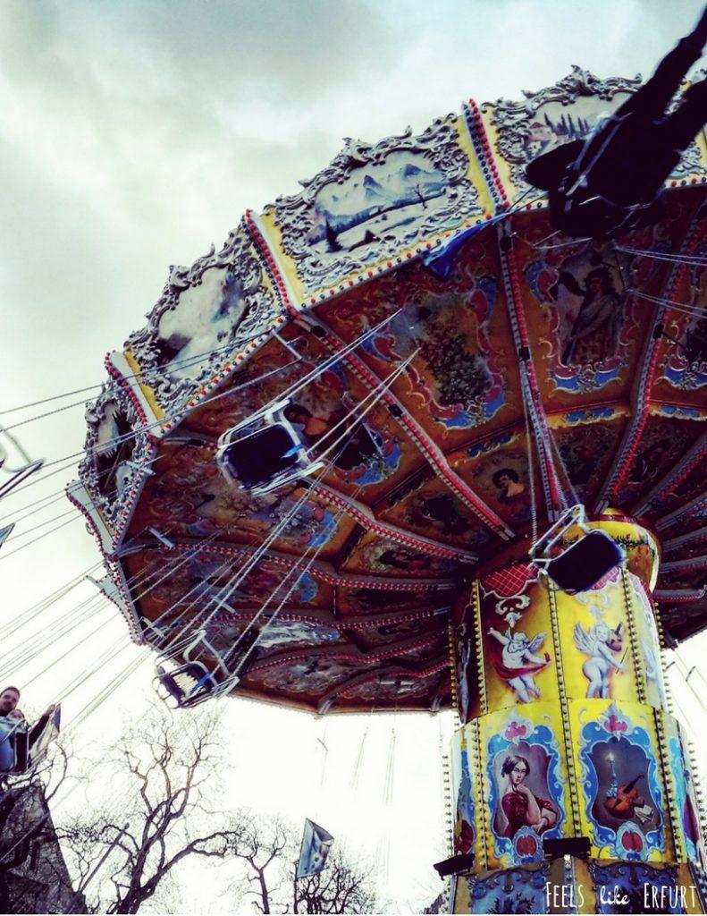 Kettenkarussell auf dem Erfurter Altstadtfrühling