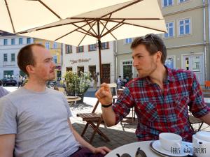 Henning und Michael, die Macher vom Veranstaltungskalender Kulturcarré