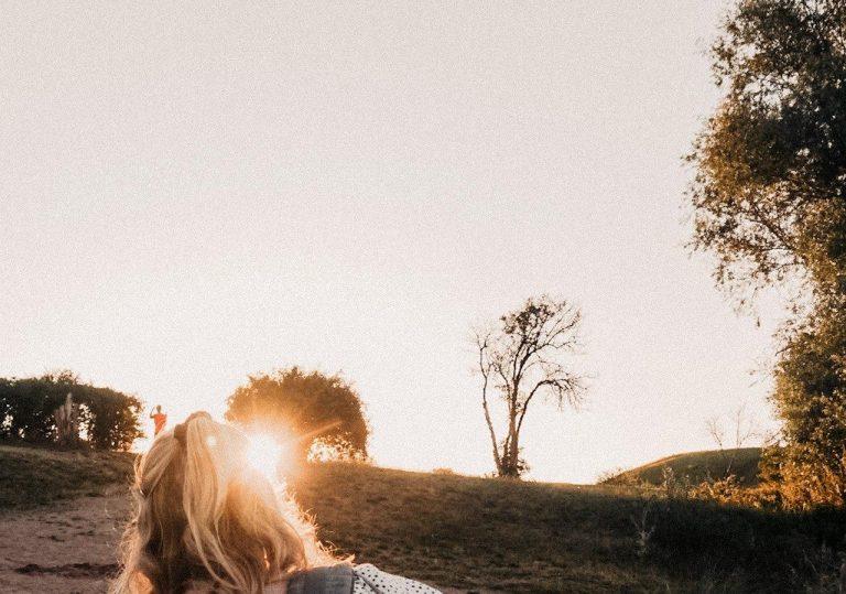 Sonnenuntergang Frau