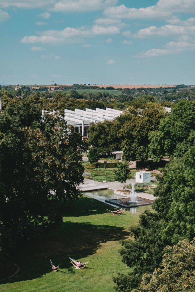 Blick über die ega Erfurt
