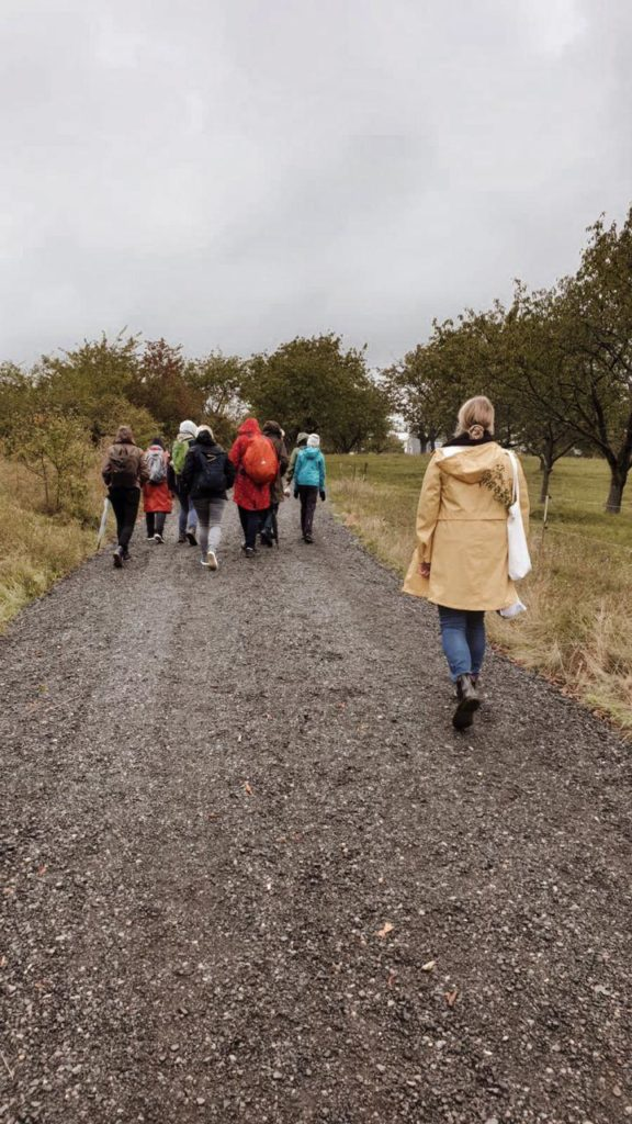 Gruppe von Menschen beim Wandern