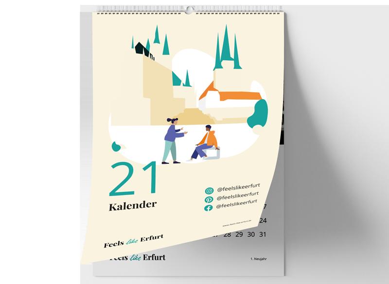 Feels like Erfurt Kalender für 2021 zum Selbstausdrucken