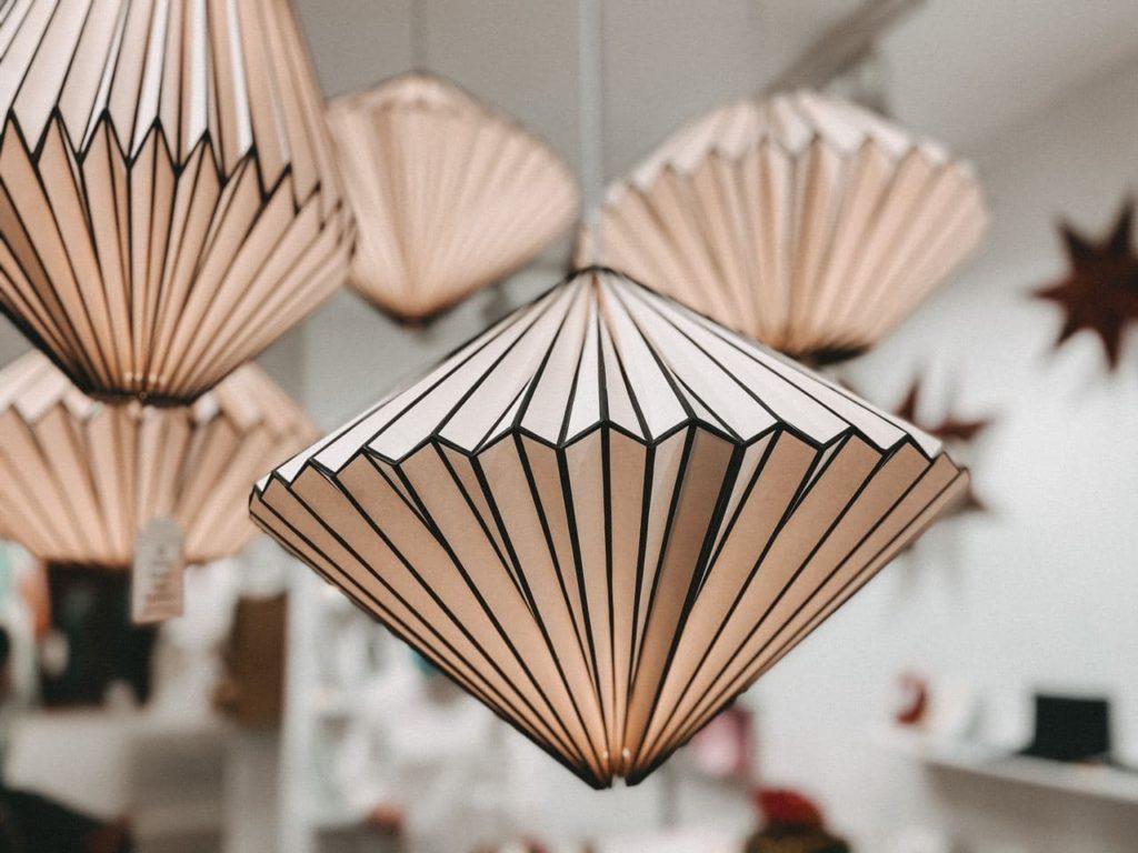 Erfurt Shopping Origami Lampe