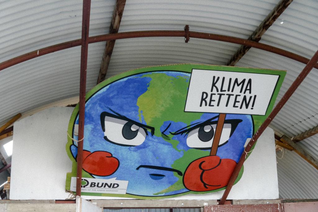Politisches Statement: Klima retten!